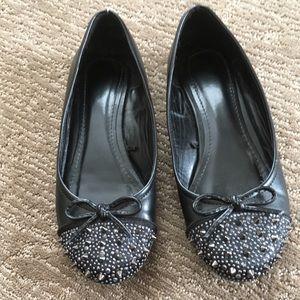 Shoes - ❗️CLOSING SALE❗️Black Studded Ballet flats